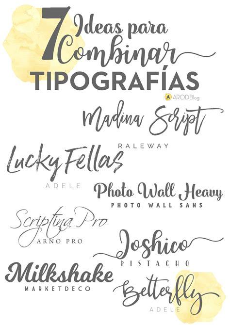 7 ideas para combinar tipografías   A2 ROD