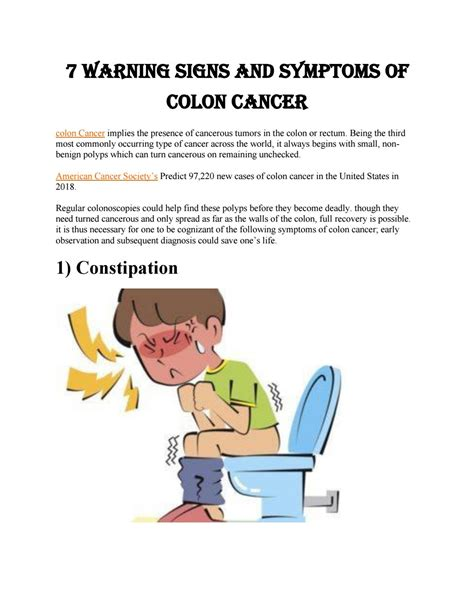 7 warning signs and symptoms of colon cancer by ...
