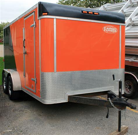 7 x14  Enclosed Utility & Motorcycle Trailer Rental: Iowa City