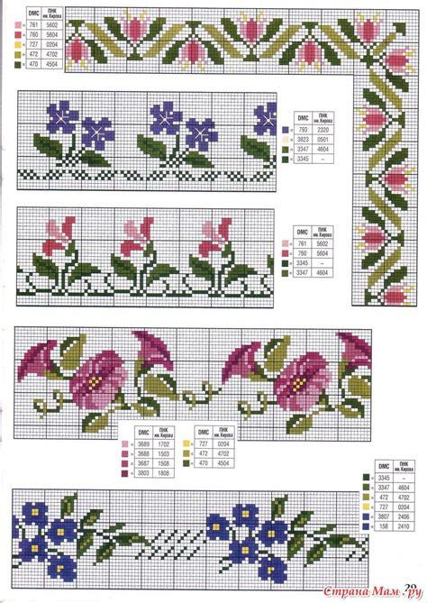 78 gráficos de flores em ponto cruz para imprimir ...