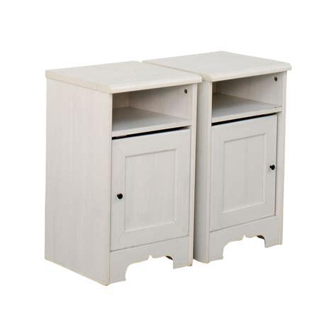 79% OFF   IKEA IKEA Hemnes White Side Cabinets / Storage