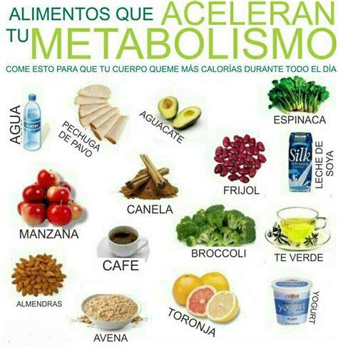 8 Alimentos para Acelerar el Metabolismo | Dieta ...
