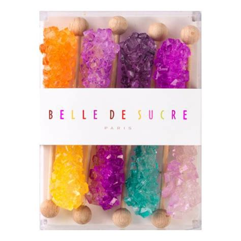 8 Bâtonnets candi multicolores   Belle de Sucre