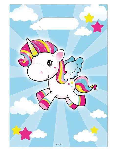 8 bolsas para cumpleaños unicornio: Decoración,y disfraces ...