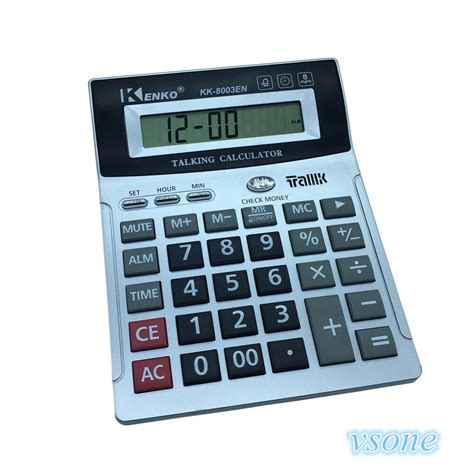 8 Digit English Talking Calculator With Alarm , Time Show ...