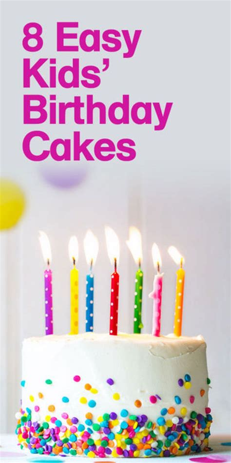8 Easy Kids' Birthday Cakes  That Any Mum Can Make ...