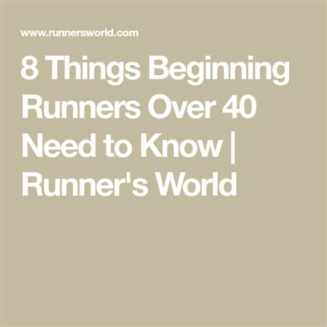 8 Things New Runners Over 40 Need to Know  With images ...