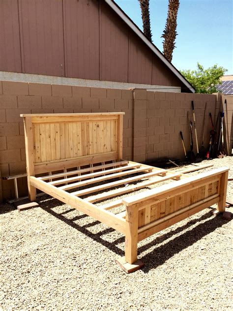 $80 DIY king size platform bed frame | My DIY projects ...