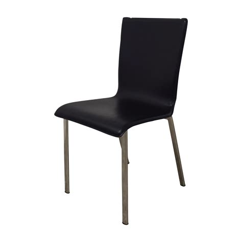82% OFF   IKEA IKEA Black with Chrome Dining Chairs / Chairs