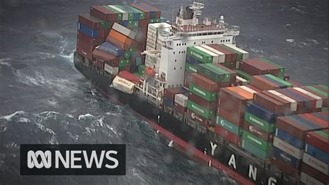 83 shipping containers fall from cargo ship off Australia ...