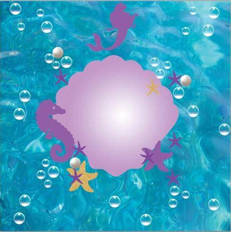 8x8FT Blue Sea Mermaid Sea Horse Starfish Little Ariel ...