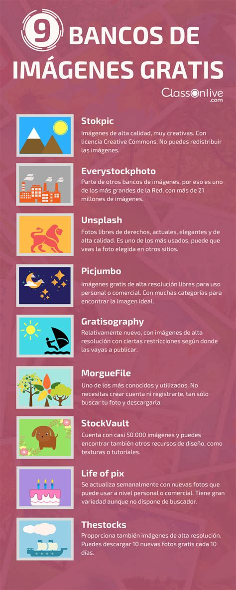 9 bancos de imágenes gratis #infografia #infographic ...