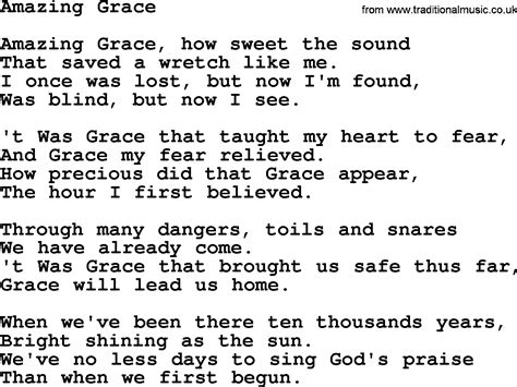 9 Best Images of Amazing Grace Chords To Words With ...