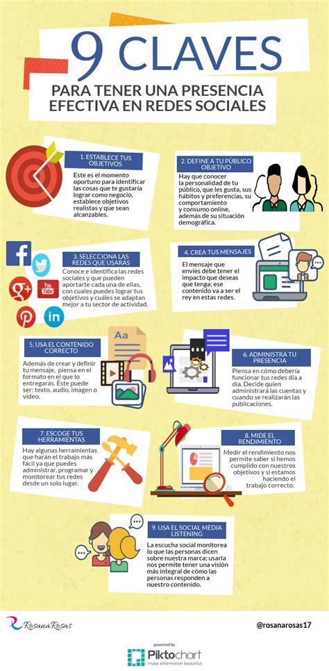 9 claves para tener presencia efectiva en Redes Sociales # ...