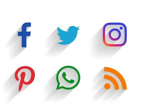9 iconos de redes sociales | Descargar Vectores gratis