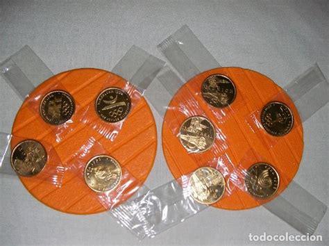 9 monedas / fichas conmemorativas de juegos oli   Comprar ...