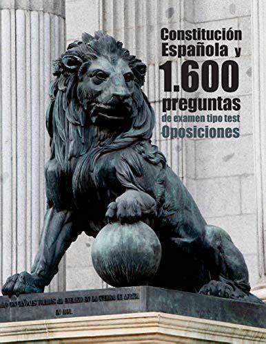 9781978456198: Oposiciones. Constitución Española y 1.600 ...