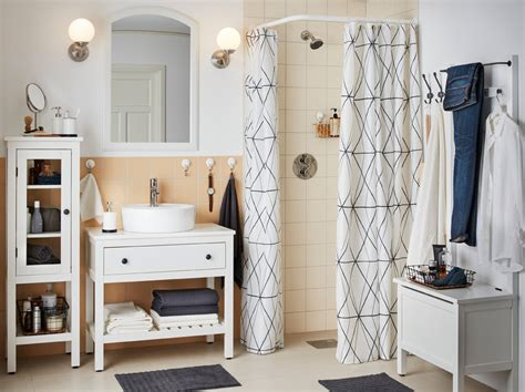 A clutter free, closed storage bathroom   IKEA