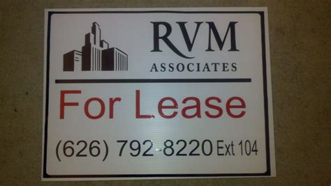A  For Lease  sign for a local Property Management company ...