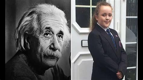 A jovem de apenas 12 anos, que possui um coeficiente ...