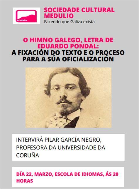 A letra do Himno Galego,palestra de Pilar García Negro na ...