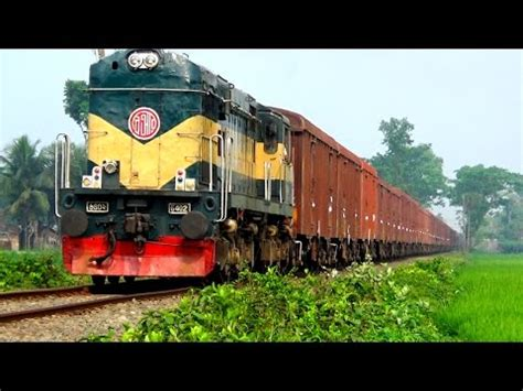 A Long Freight Train coming from India running towards ...
