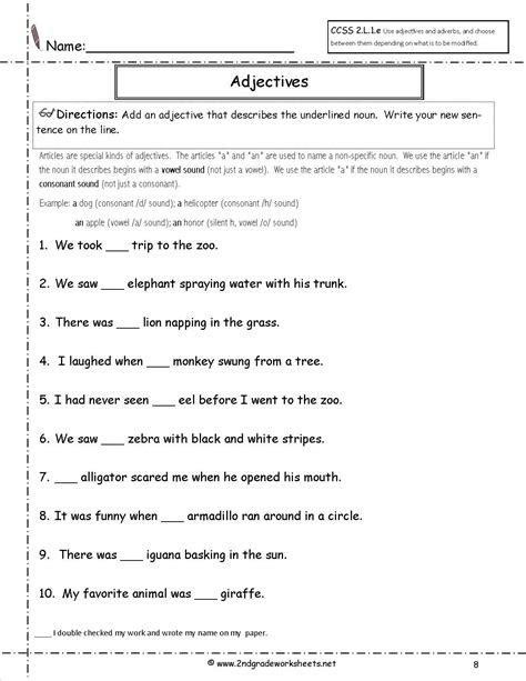 a or an worksheet for grade 2   Google Search