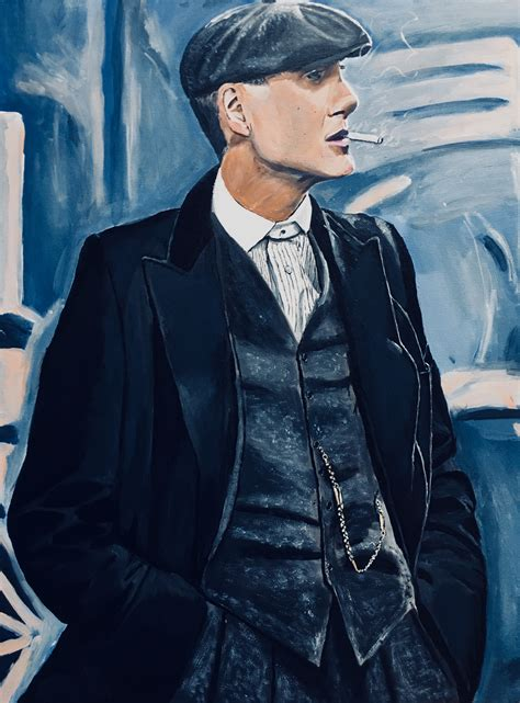 A painting of Tommy Shelby that I made. Acrylic on canvas ...