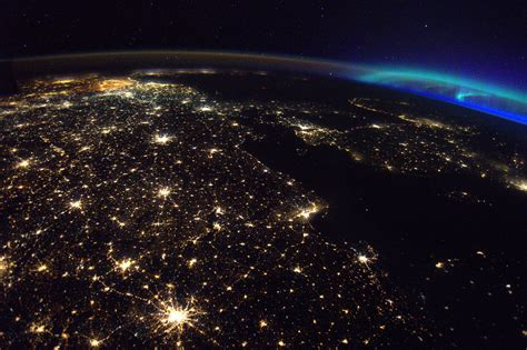 A Photo From Space Shows Belgium Shining Bright, and ...