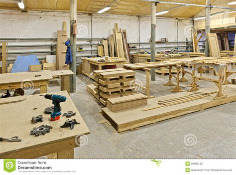 A Plant For Manufacturing Of Furniture Stock Photo   Image ...