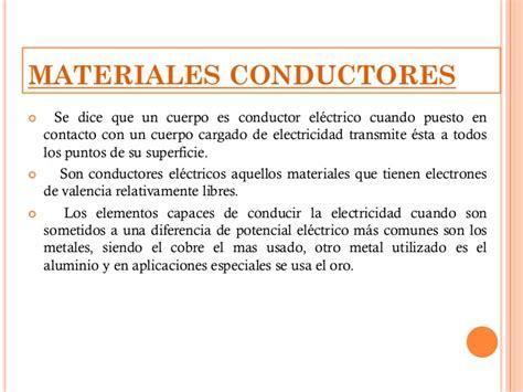 A Que Se Le Llama Material Conductor   Compartir Materiales