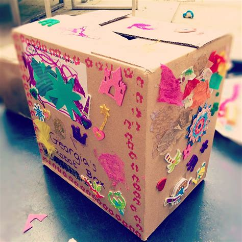 A Step By Step Guide For Decorate A Cardboard Box ...