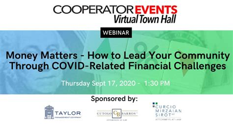 A Virtual Town Hall Sponsored by: Taylor Management ...