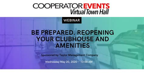 A Virtual Town Hall Sponsored by Taylor Management   The ...
