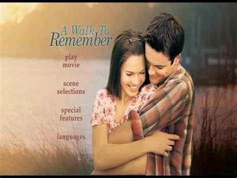 A Walk To Remember DVD Menu   YouTube