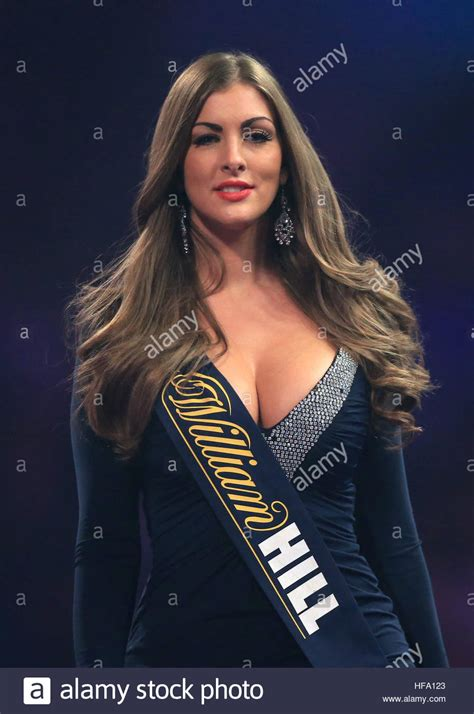 A William Hill promo girl during day eleven of the William ...