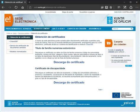 A Xunta activa o servizo de de emisión de certificados a ...
