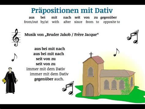 A1 Learn German: learn the prepositions with dative with a ...