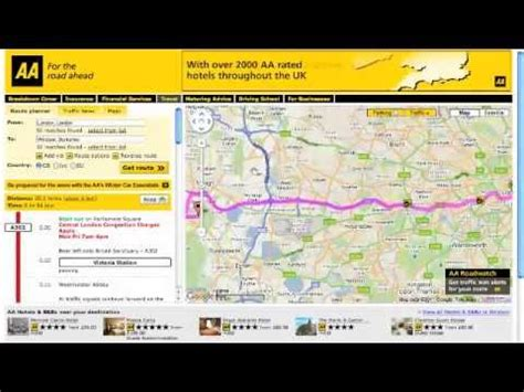 AA Route Finder in action   Guide to using the AA Route ...