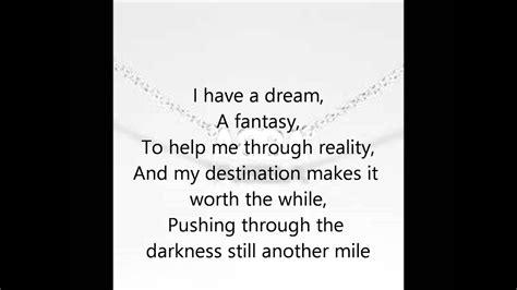 Abba  I Have A Dream Lyrics   YouTube