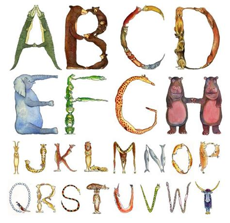 #Abecedario animal | Me gustan las letras :  | Abecedario ...