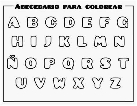 Abecedario para imprimir y colorear ~ Dibujos para Niños
