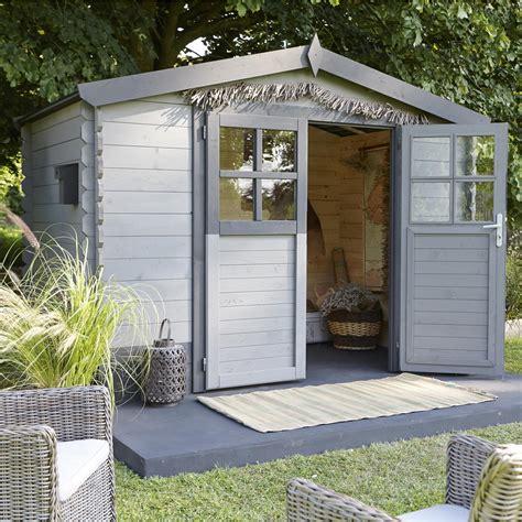 Abri de jardin bois Soleil, 4.95 m² Ep.28 mm   Leroy Merlin