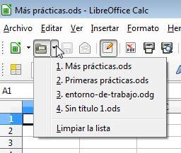 Abrir documentos guardados | Creación de documentos de ...