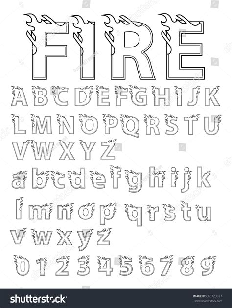 Abstract Flame Alphabet Font Type Letter #856356   PNG ...