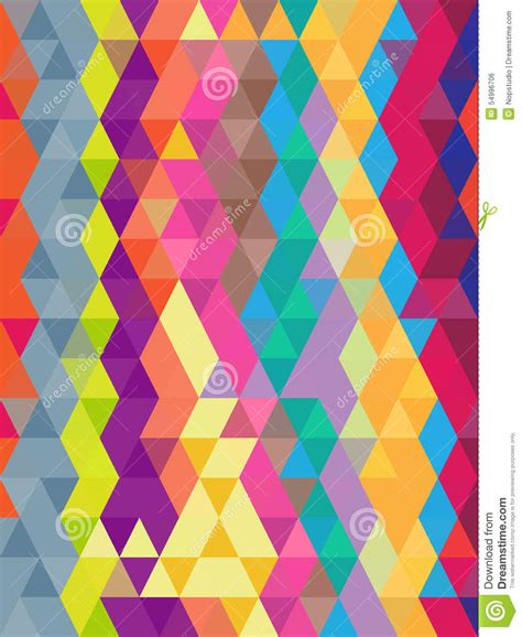 Abstract Geometric Colorful Background In Triangles ...