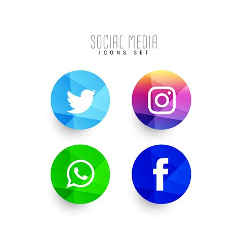 Abstract modern social media icons set   Download Free ...
