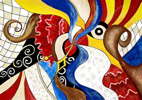Abstract painting of Spanish themes. Art. — Stock Photo ...