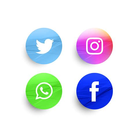 Abstract social media icons set   Download Free Vectors ...