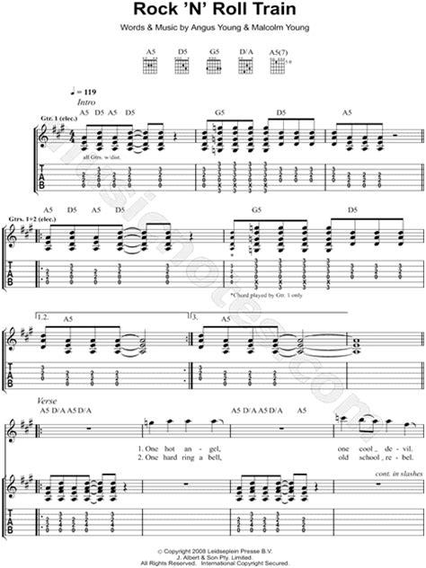AC/DC  Rock  N  Roll Train  Guitar Tab in A Major ...